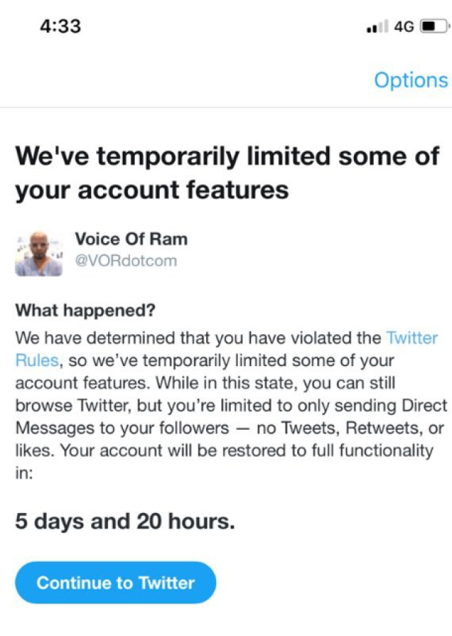 Ram Subramanian's Twitter account has been temporarily suspended.