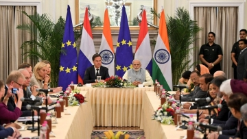 PM Modi holds delegation level talks with Netherlands PM Mark Rutte.