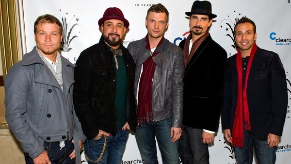 The Backstreet Boys- A J McLean, Howie D., Nick Carter, Kevin Richardson and Brian Littrell.