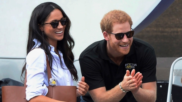 Britain's Prince Harry and  Meghan Markle at the Invictus Games in Toronto.