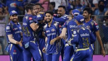 Mumbai Indians beat Kings XI Punjab to keep their play-off hopes alive.