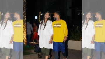 Sonam Kapoor and Anand Ahuja after a dinner date in Mumbai.