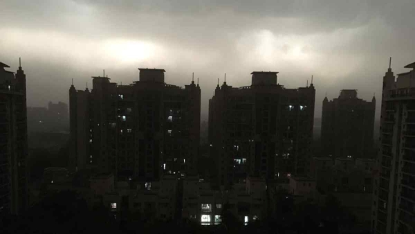 Storm turns Greater Noida into Gotham City at 5 pm on Sunday, 13 May.