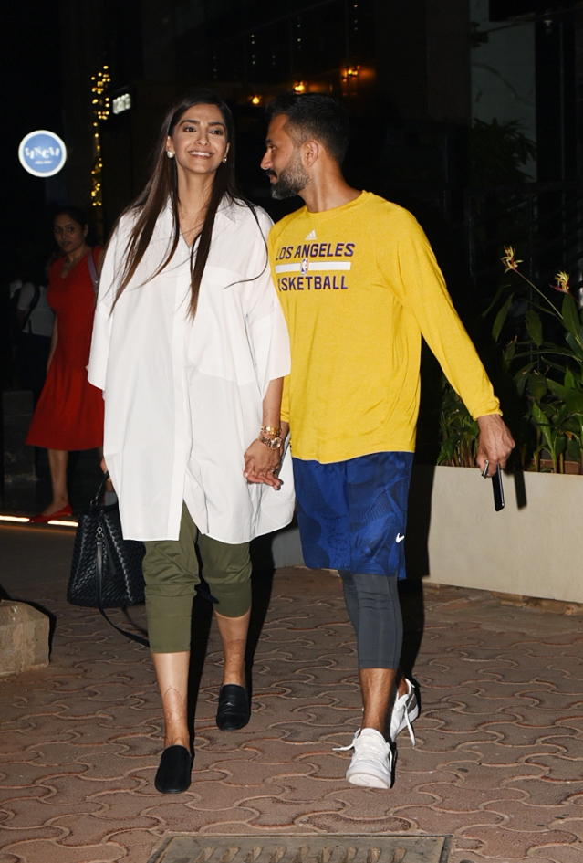 Sonam Kapoor and Anand Ahuja's night out.