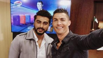 When Arjun Kapoor met football star Cristiano Ronaldo.