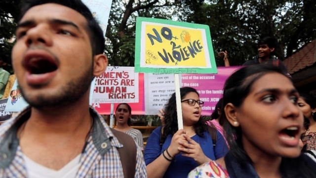 Representational image from an anti-rape protest.