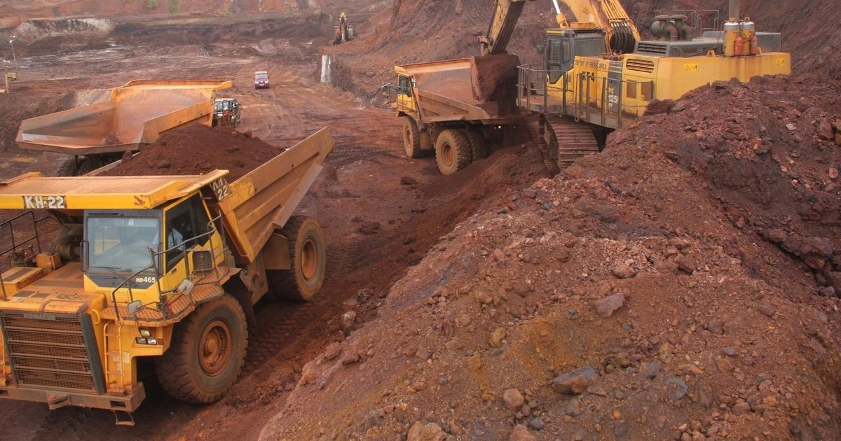 Iron ore mining operations in Goa