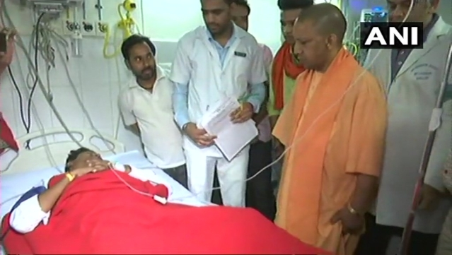 Yogi at Banaras Hindu University Trauma Center.