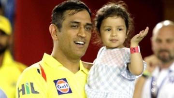 Chennai skipper MS Dhoni and daughter Ziva bid farewell to Pune.