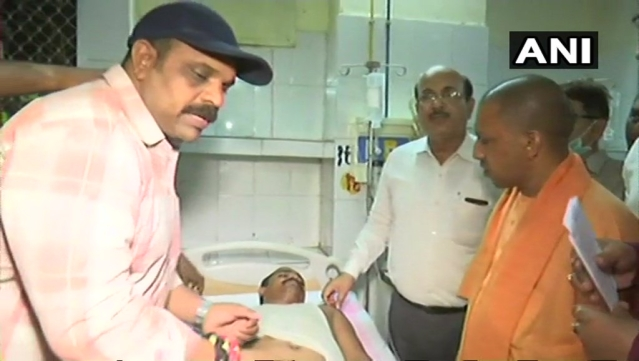 Yogi at Kabir Chaura Hospital.