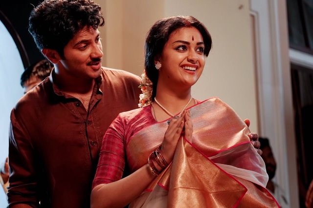Keerthi Suresh and Dulquer Salman in a still from 'Mahanati.'