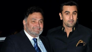 Rishi Kapoor and his son, Ranbir Kapoor.