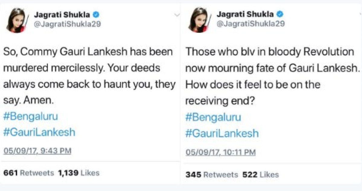 Jagrati Shukla on the killing of Gauri Lankesh.