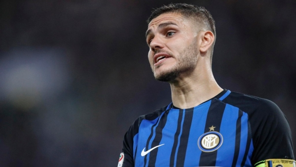 File picture of Inter Milan's Mauro Icardi