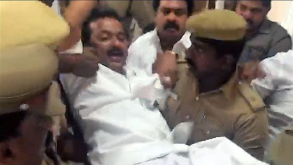 Sterlite Row Updates: Police Carry Stalin Out of CM's Chamber