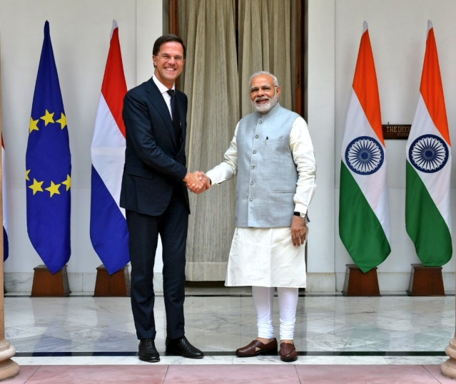 PM Modi with Netherlands PM Mark Rutte