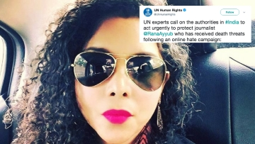 Rana Ayyub received gang-rape and death threats after she was falsely quoted in a tweet on 20 April, 2018.