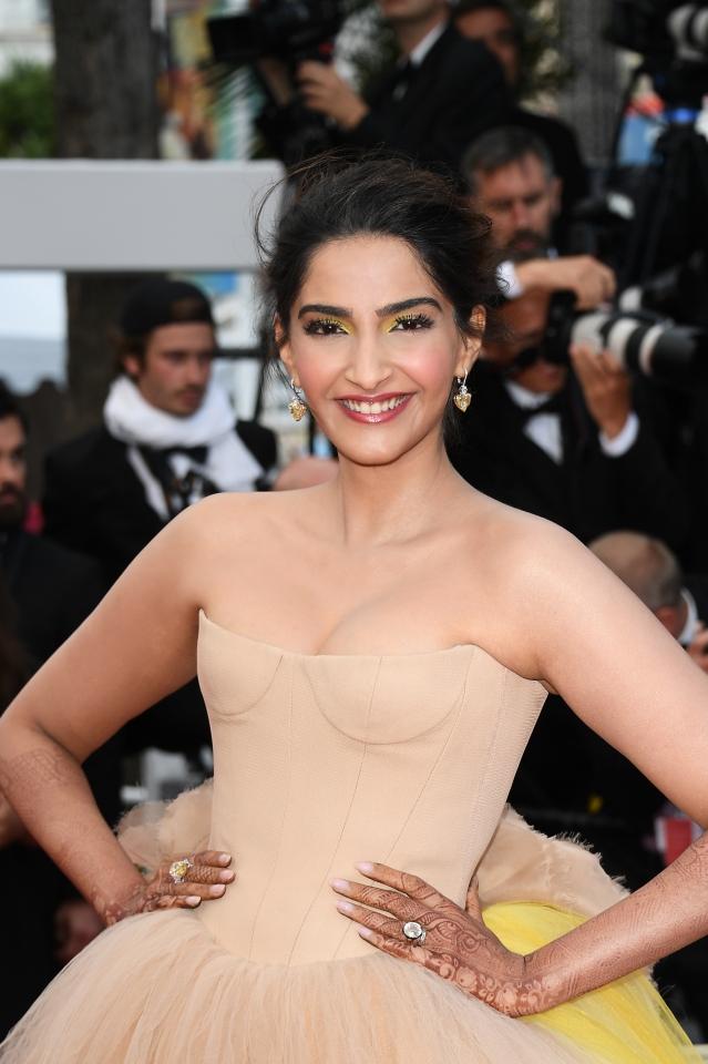 Sonam Kapoor flaunts a Vera Wang gown.