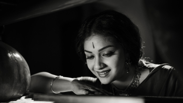 Keerthi Suresh in a still from the film Mahanati.