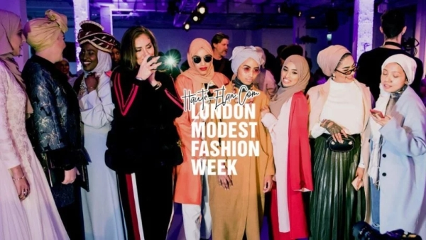 A still from the London Modest Fashion Week (LMFW) 2018.
