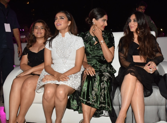 The foursome send the mercury soaring at the music launch of <i>Veer Di Wedding.</i>