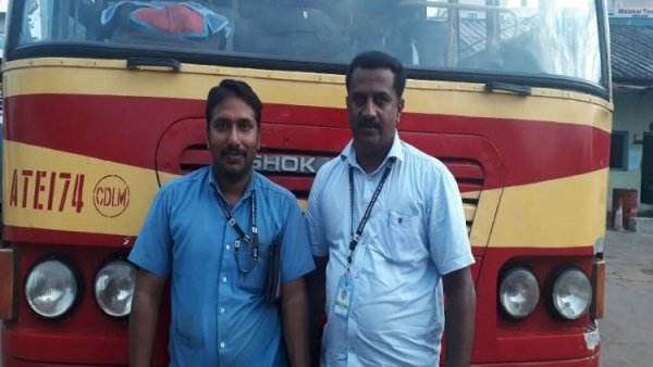 Driver Girish and conductor Sajan K John, who's fast-thinking got the pregnant passenger to the hospital on time.