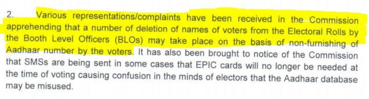 Election Commission's Letter on NERPAP dated 22 May 2015