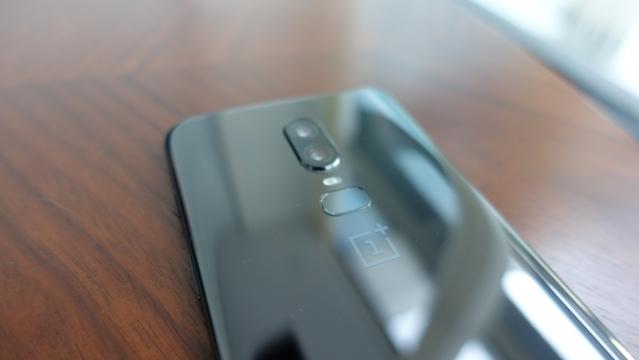 Fingerprint scanner underneath the dual-rear camera.