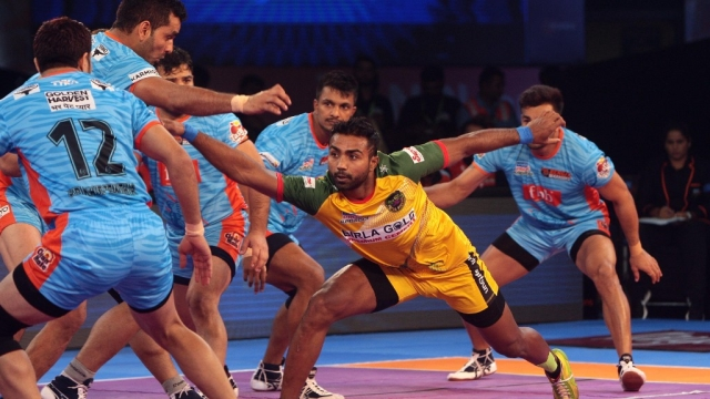 File picture of Monu Goyat in action against Bengal Warriors.