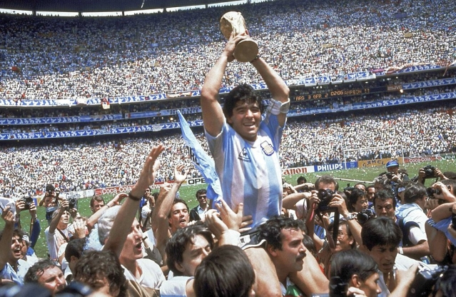 Diego Maradona led Argentina to a famous victory over Beckenbauer's West Germany in the 1986 World Cup Final