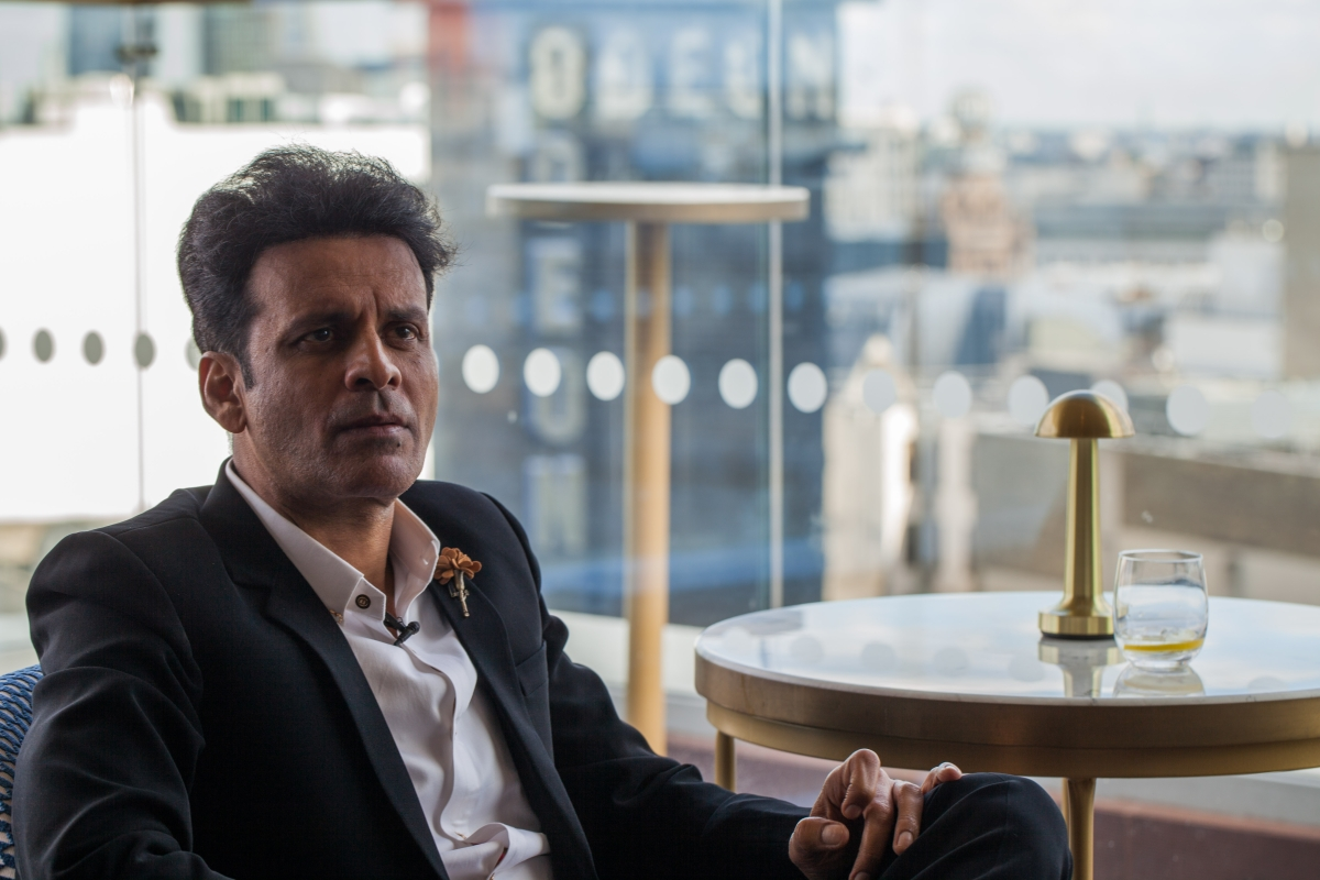 Manoj Bajpayee on the sidelines of London Indian Film Festival.