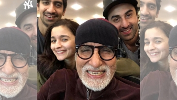 A picture of the main cast of <i>Brahmastra</i> surfaced recently.