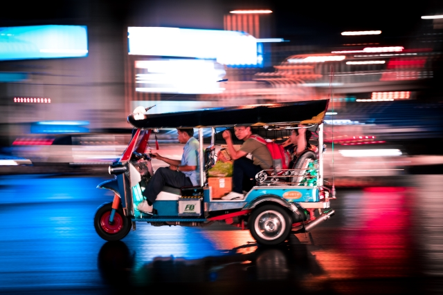 A sensation that sums up Bangkok? The reckless driving of tuk tuks