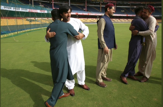 The occasion was also celebrated in a cricketers' natural environment