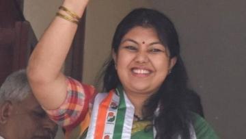 Congress MLA Sowmya Reddy, who won from Jayanagar on Wednesday, 13 June.