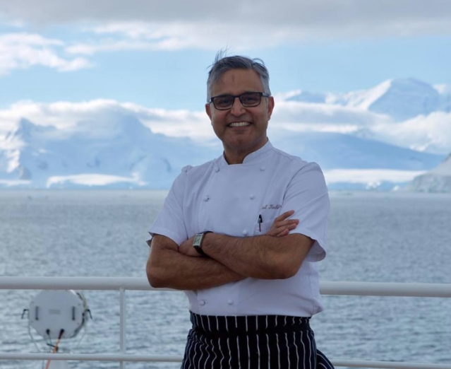 Chef Atul Kochhar on one of his travels.