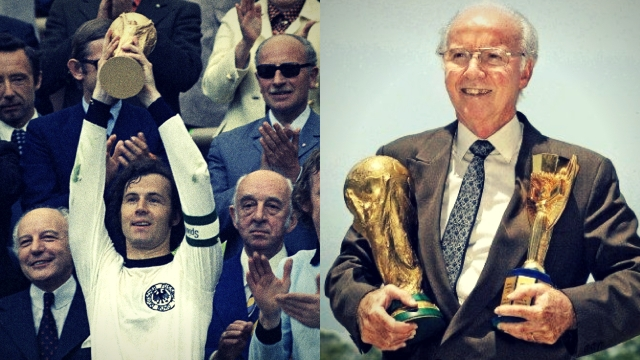 German footballer Franz Beckenbauer (left) and Brazilian Mario Zagallo are the only players to win the World Cup both as a player and as a coach.