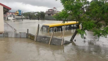 Several colonies in Imphal city have been submerged due to the rains.