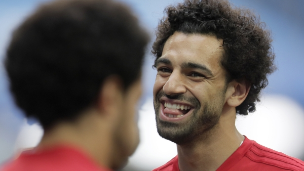 Mohamed Salah was named in England's starting line-up against Russia.