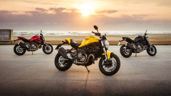 The Ducati Monster 821 takes the styling of the larger Monster 1200, with the power of a more compact 821cc L-Twin Testastretta engine.