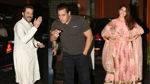 Anil Kapoor, Salman Khan, and Jacqueline Fernandez at Arpita Khan and Aayush Sharma's Eid party.