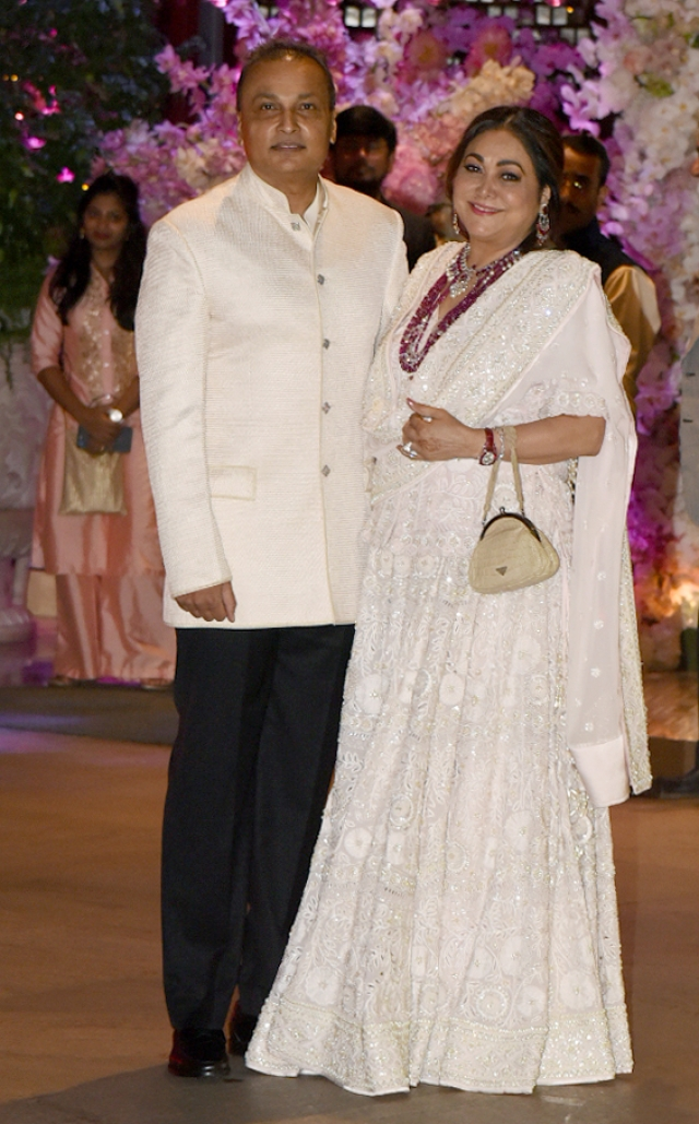 Anil and Tina Ambani - the uncle and aunt of the bride and grooms to be in the near future.