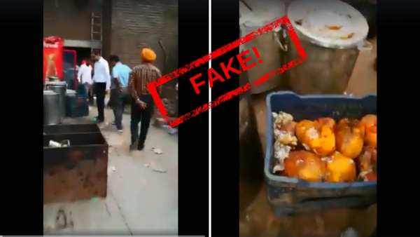 The original video was from May 2017, allegedly of a Health Department raid on Pappu Canteen, Ludhiana.