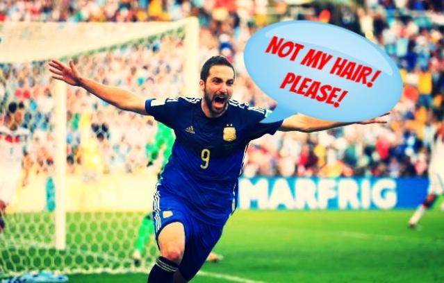 Higuain wants to keep his hair
