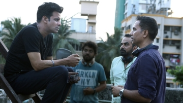 Manoj Bajpayee with filmmakers Raj & DK.