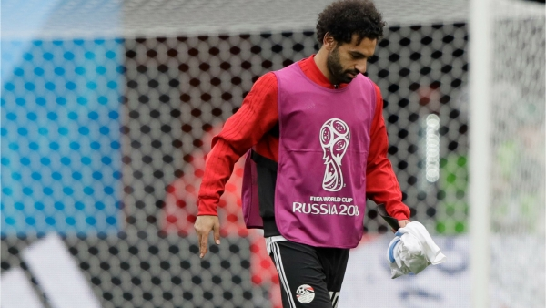 Mohamed Salah has been training with the Egyptian team in Russia.