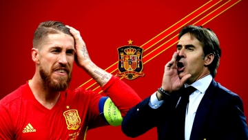 How will the Spanish players like Sergio Ramos react to the dismissal of coach Julen Lopetegui?