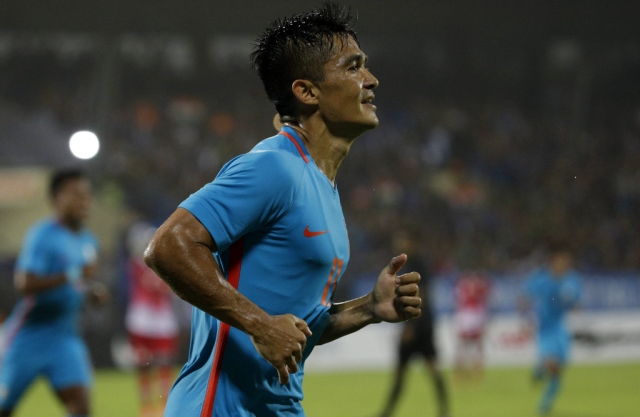 Sunil Chhetri equaled Lionel Messi's number of international goals.