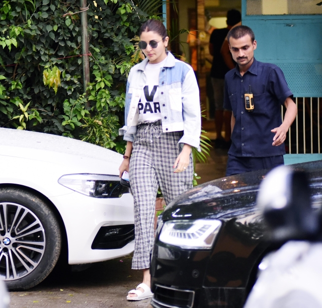 Anushka Sharma was spotted in her casuals.