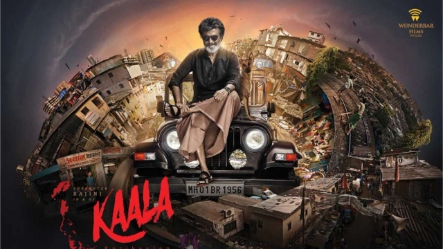 The poster of Rajinikanth's <i>Kaala</i>.